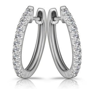 18ct White Gold 0.30ctw Diamond Huggies