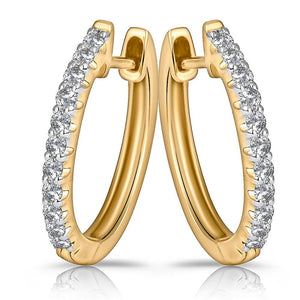 18ct Yellow Gold 0.30ctw Diamond Huggies