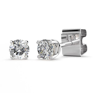 1/10ctw Diamond 14k White Gold Stud Earrings GH/SI1