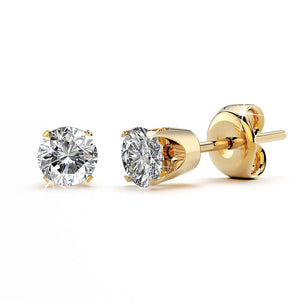 3/8ctw Diamond 14k Gold Stud Earrings GH/SI3