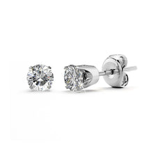 1/6ctw Diamond 14k White Gold Stud Earrings GH/SI1