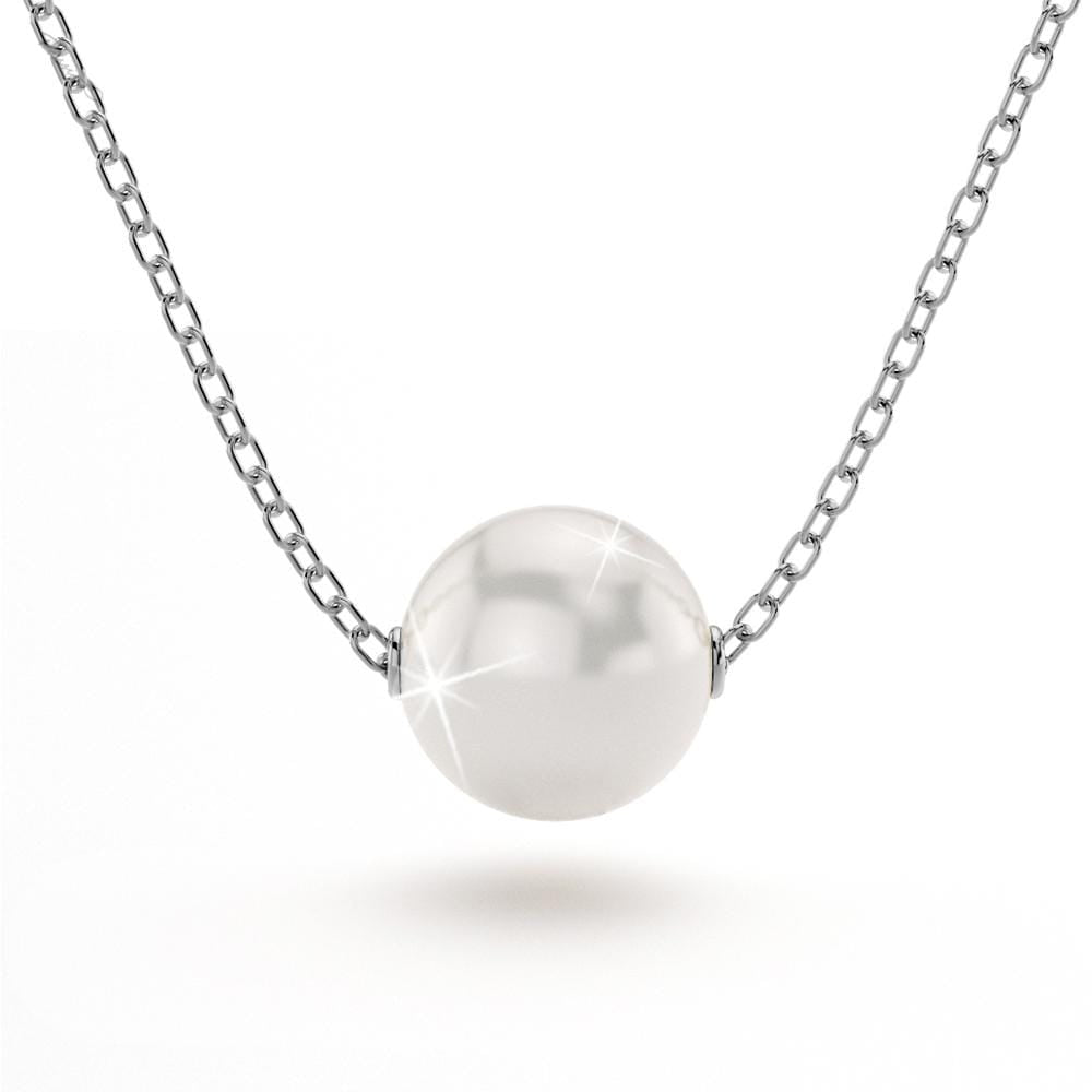 8mm Akoya Pearl 18ct White Gold 14Ó Necklace