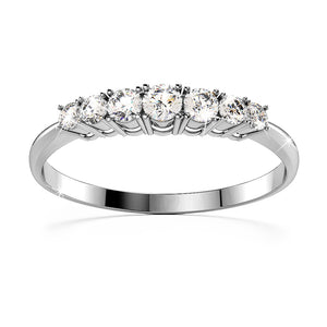 18K White Gold 0.35ct Diamond Promise Ring