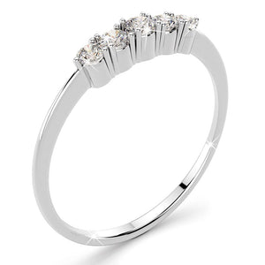 18K White Gold 0.30ct 5-Diamond Ring