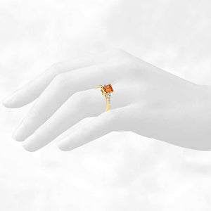 14K Yellow Gold 1.22ct Yellow Sapphire & Diamond Ring