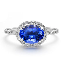 14K White Gold 1.53ct Tanzanite & 0.20ct Diamond Dress Ring