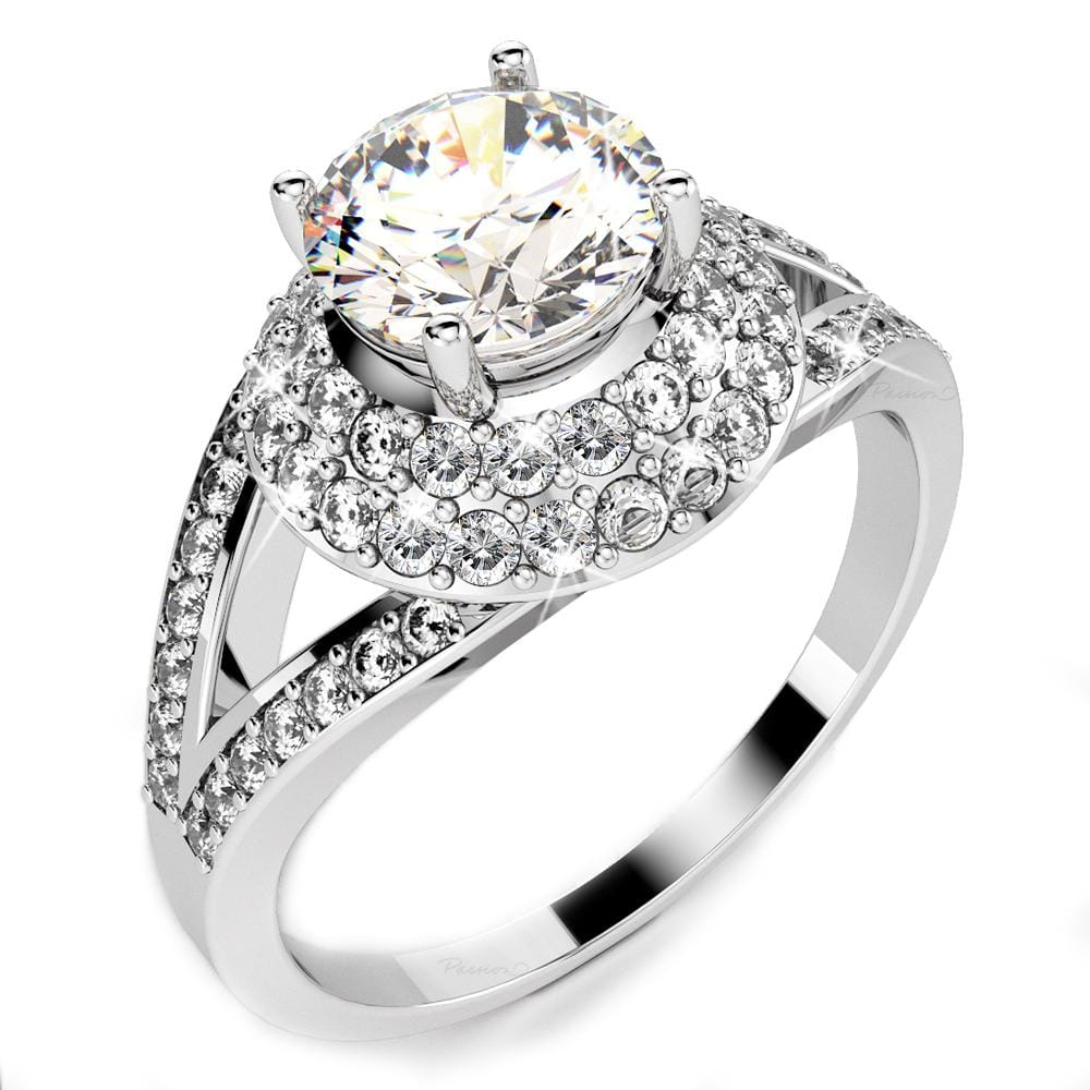 14ct White Gold 1.15ct. tw. Asphalon Diamond Ring