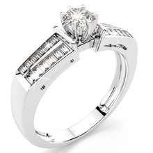 Load image into Gallery viewer, 0.89ct. tw. Vaguette Diamond Engagement Ring (JAA/NCJV Certified) - Brilliant Co