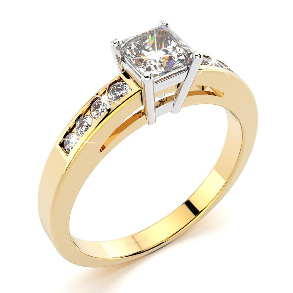 0.85ct. tw. Channeau Diamond Engagement Ring (JAA/NCJV Certified)