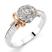 0.13ctw Diamond 10k Duo Tone Gold Ring US6