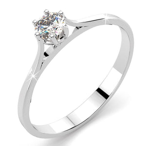 9K White Gold 0.21 Carats Solitaire Diamond Ring