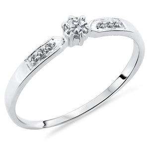 10ct White Gold 0.14 Carats Accented Diamond