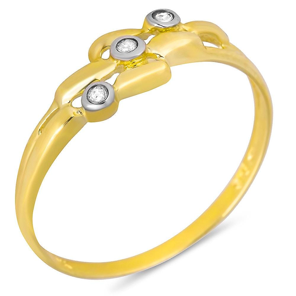9ct Yellow Gold 3pts Diamond Ring
