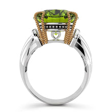 Solid Sterling Silver with Round Cut Peridot Ring - Brilliant Co