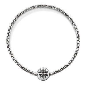 Silver Oxidised Karma Bracelet - Brilliant Co