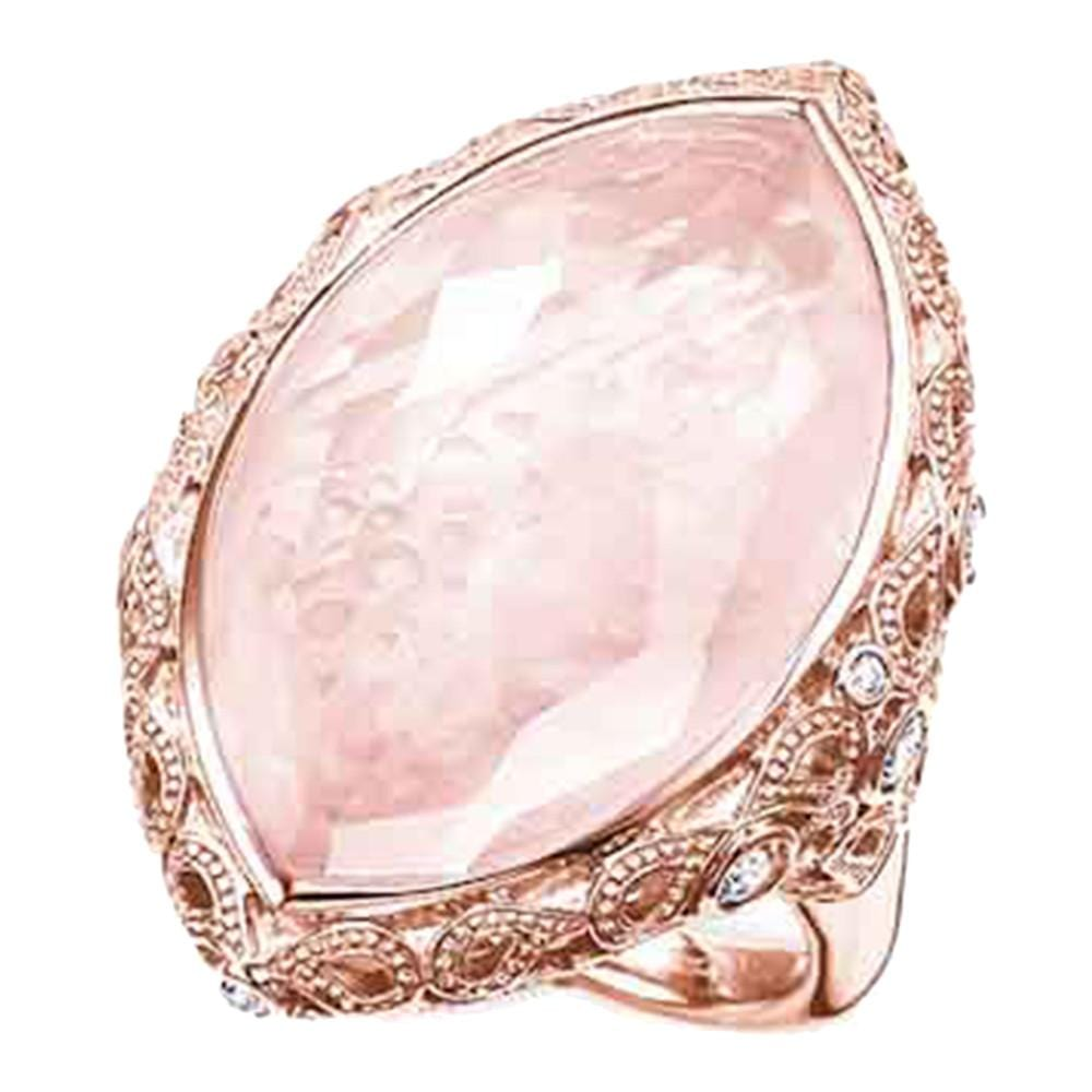 Lotos Rose Qtz Rose Ellipse Ring - Brilliant Co