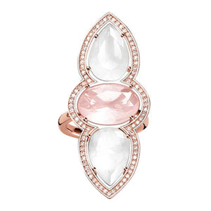 Maharani Rose Qtz Rose Dress Ring - Brilliant Co