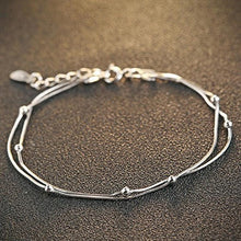 Solid 925 Sterling Silver Double Strand Bracelet - Brilliant Co