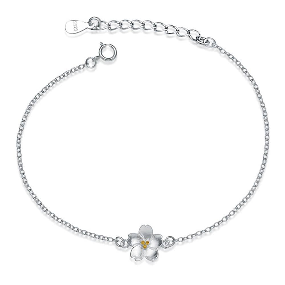 Solid 925 Sterling Silver White Blossom Bracelet - Brilliant Co