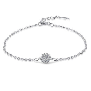 Solid 925 Sterling Silver Wild Flower Bracelet - Brilliant Co