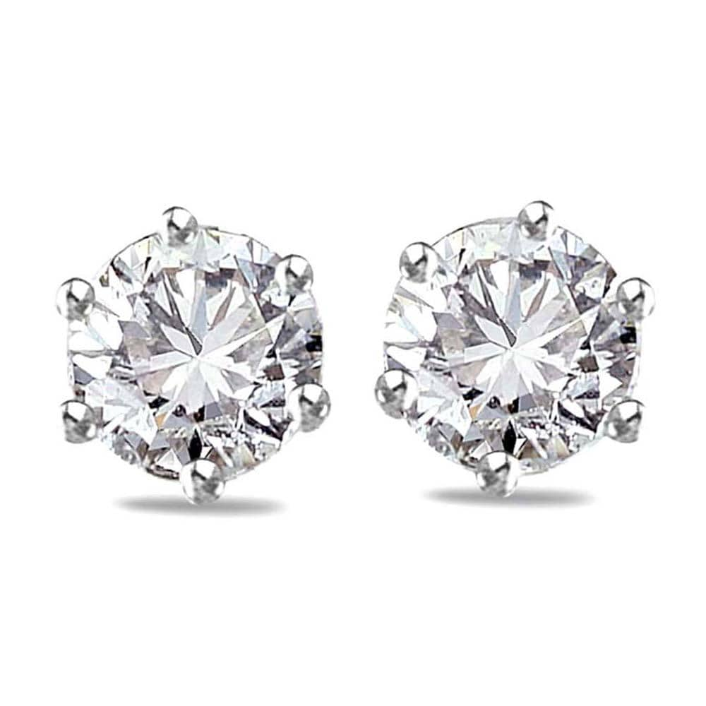 Solid 925 Sterling Silver Diamonelle Studs - Brilliant Co