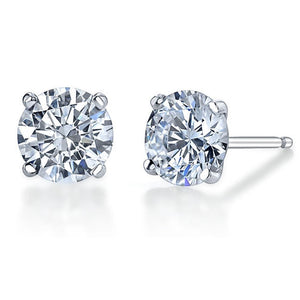 Solid 925 Sterling Silver Martini Studs