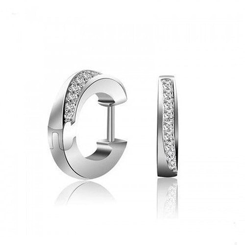 Solid 925 Sterling Silver Huggies