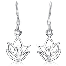 Load image into Gallery viewer, Solid 925 Sterling Silver Lotus Leaf Hook Earrings - Brilliant Co