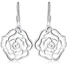 Solid 925 Sterling Silver Highly Polished Rose French Hook Earrings - Brilliant Co