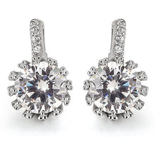 Load image into Gallery viewer, Solid 925 Sterling Silver CZ Sparkle Earrings - Brilliant Co