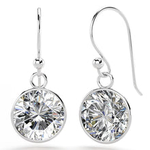 Load image into Gallery viewer, Solid 925 Sterling Silver CZ Circle Drop Earrings - Brilliant Co