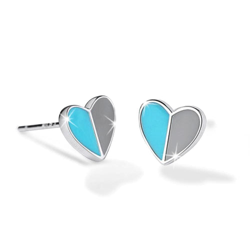Solid 925 Sterling Silver Harmonious Turqoise Love Earrings