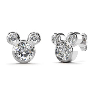 Solid 925 Sterling Silver Mickey Earrings