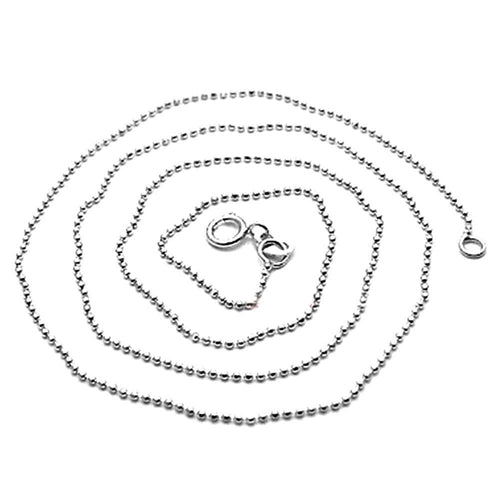 Solid 925 Sterling Silver Ball Chain 40cm