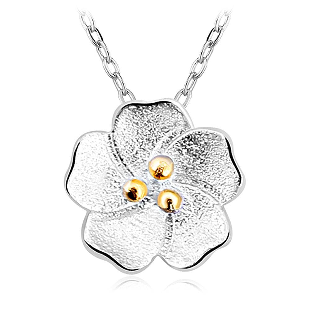 Solid 925 Sterling Silver Floral Mirage Necklace - Brilliant Co