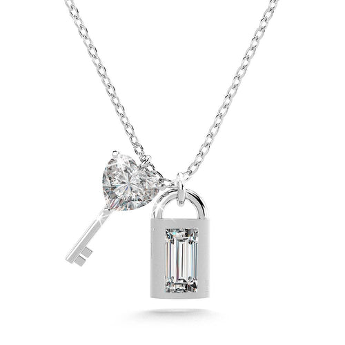 Sterling Silver Lock & Key Necklace
