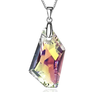Solid 925 Sterling Silver Admentine Blue Crystal Pendant Embellished with Swarovski crystals - Brilliant Co