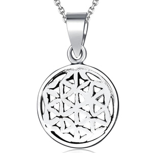 Solid Sterling Silver 925 Illusional Pendant