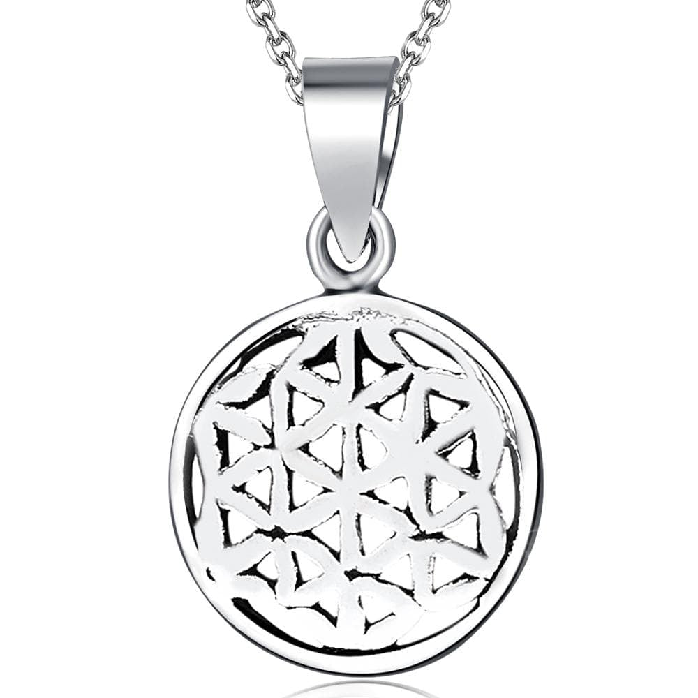 Solid 925 Sterling Silver Illusional Pendant - Brilliant Co