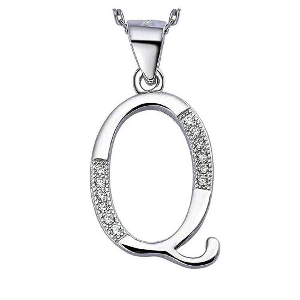 Solid 925 Sterling Silver Alphabet Pendant Collection - Brilliant Co