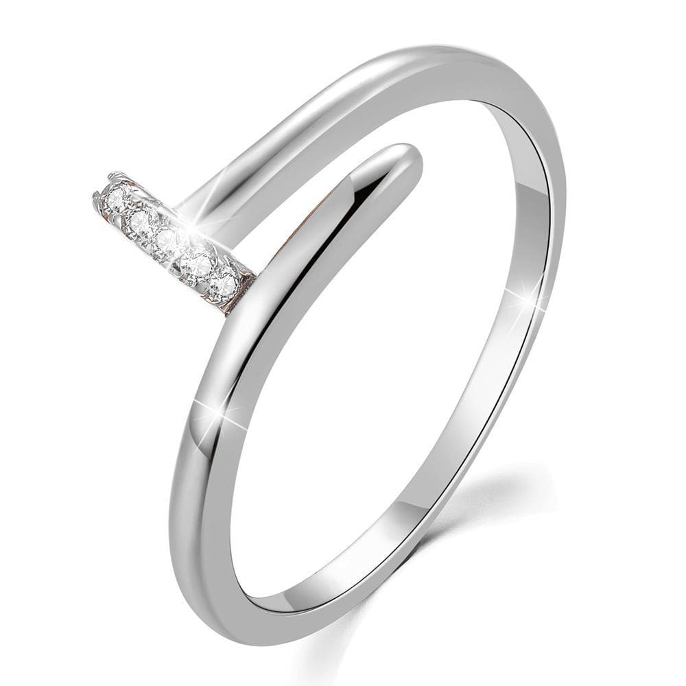Solid 925 Sterling Silver Fiona Ring - Brilliant Co