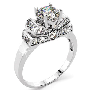 Sterling Silver Simulated Diamond Ring