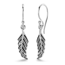 Boxed Solid 925 Sterling Silver Antique Feather Pendant and Earrings Set - Brilliant Co