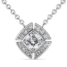 Load image into Gallery viewer, Krystal Couture Necklaces White Gold Brilliant Cut Pendant Necklace Embellished With Swarovski® Crystals
