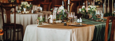 vintage table wedding settings