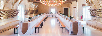 Rustic theme wedding reception