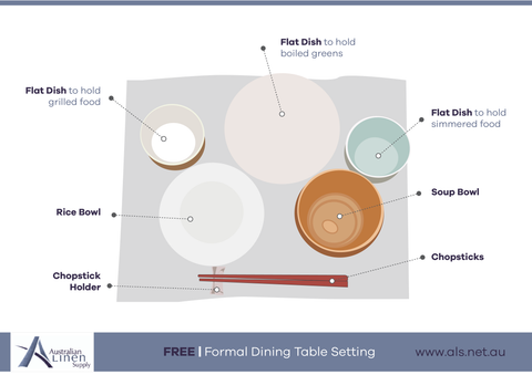 Japanese dining table setting