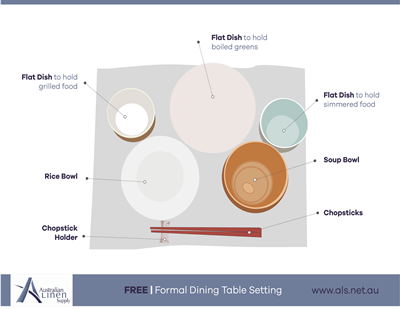 Japanese Formal Dining Table Setting
