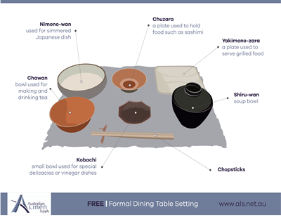 japanese formal dining table set up