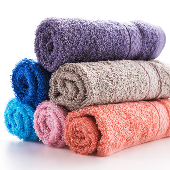 coloured face towels